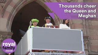 Thousands cheer the Queen and Meghan, Duchess of Sussex in Chester