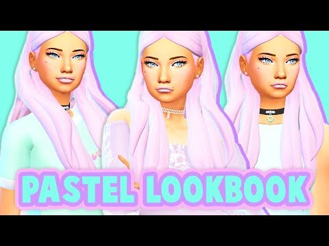 PASTEL LOOKBOOK✨💜 // 5 DIFFERENT PASTEL LOOKS | THE SIMS 4