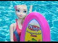 Anna And Elsa Swimming Pool Fun Surfing Barbie Wahu Surfer D
