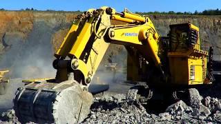 Komatsu PC3000-6 Loading Blasted Rock
