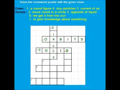Word Games - Easy Kids English crossword puzzles part   6