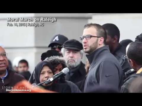 Brother of man slain in Chapel Hill triple murder speaks at #MoralMarch