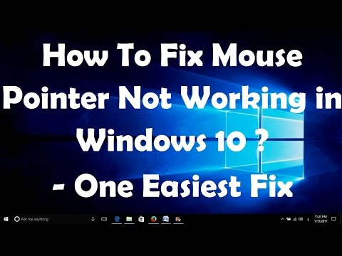 How To Fix Mouse Pointer Not Working in Windows 10 - One Easiest Fix
