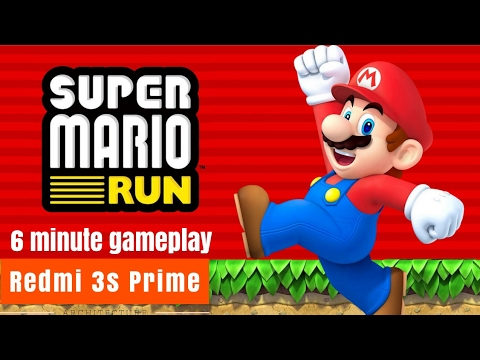 6 minutes of Super mario run android gameplay on redmi 3s prime | Hindi