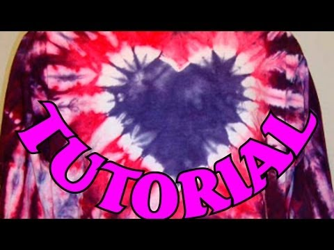 How to Tie Dye a Heart design [Full Tutorial] #2