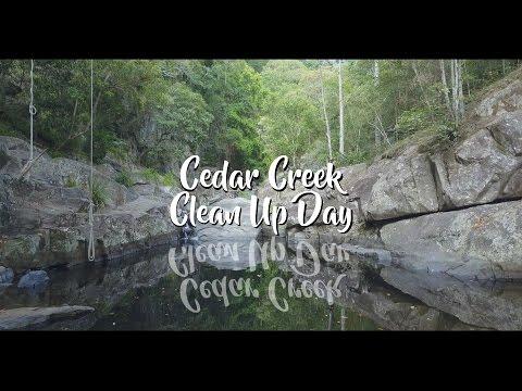 CJ Explores... Cedar Creek Samford (swimming holes, waterfalls, cleaning)