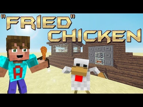 How to make an Automatic Chicken Cooker in Minecraft | Chicken Farm Minecraft Tutorial | Default