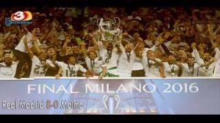 جميع أهداف ريال مدريد في دوري أبطال اوروبا 2016 تعليق عربي HD