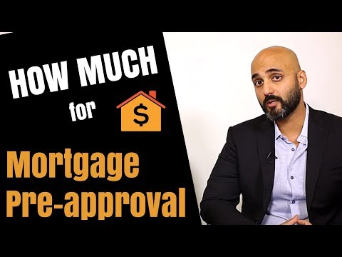 How much can I get pre-approved for a mortgage