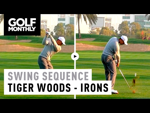 2017 Tiger Woods Slow Motion Iron Swing