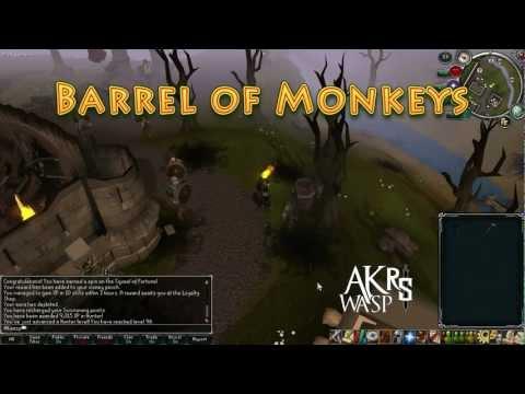 Barrel of Monkeys - Consumable Vanity Item, Squeal Wheel Reward - Runescape AKwaspRS