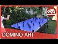 Crazy Table Tennis Tricks With Dominoes Meeting With Ludomin