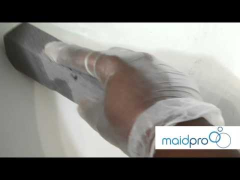 MaidPro shows you how to remove toilet rings with a pumice stone