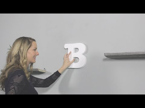 How to Mount Foam Letters