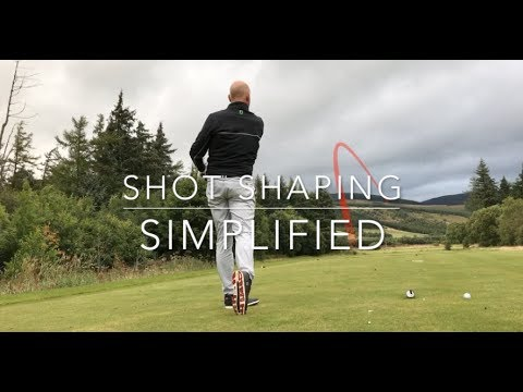 A simplified way of shaping your golf shots fade draw