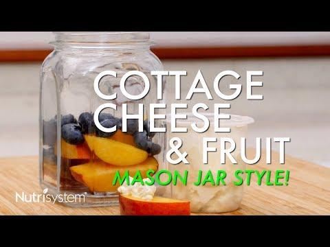 Cottage Cheese and Fruit Mason Jar Recipe