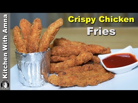 Crispy Chicken Fries Recipe - How to make Chicken Fingers - Kitchen With Amna