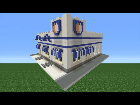 Minecraft Tutorial: How To Make A White Castle (Fast Food Restaurant)