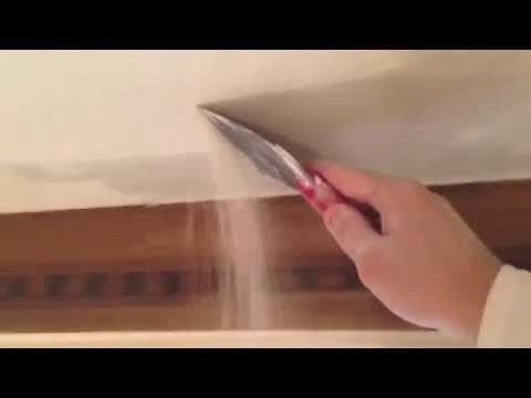 HOW TO REMOVE A POPCORN CEILING FAST AND EASY BEFORE PAINTING!!!