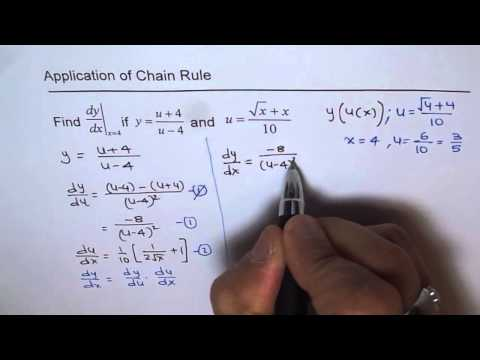 Evaluate Derivative of Composite Function Chain Rule