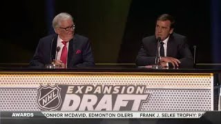 Golden Knights make first selections, trade with Sabres