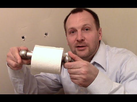 How to fix a ripped out toilet paper holder or towel rod