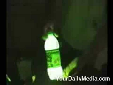 make your own glow stick with mountain dew