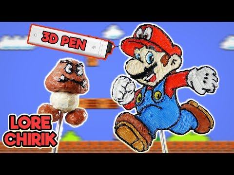 Making Mario and Goomba using 3D Pen 3Dsimo mini 2 + UNBOXING ✔ Super Mario Odyssey