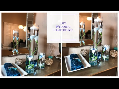 DIY Simple Tall Wedding Centerpiece | Dollar Tree | Under $25