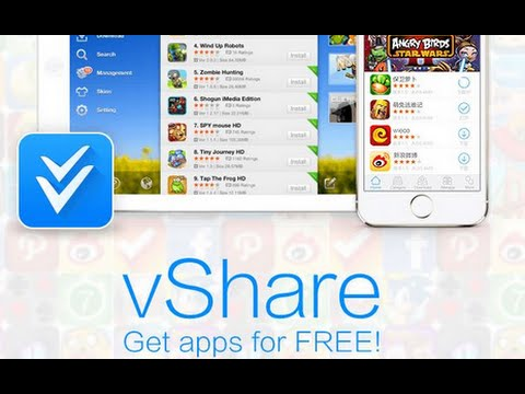 Get free apps with vShare! iOS 6/7-8.1.2! (NO JAILBREAK)