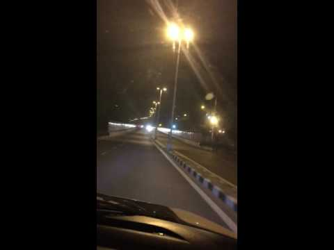 Late night Delhi drive through India