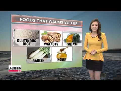 Foods that will keep you warm through the winter   추운날 체온을 높여주는 음식