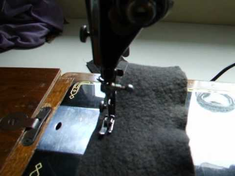 Singer 201k Heavy Duty in action with reverse stitch