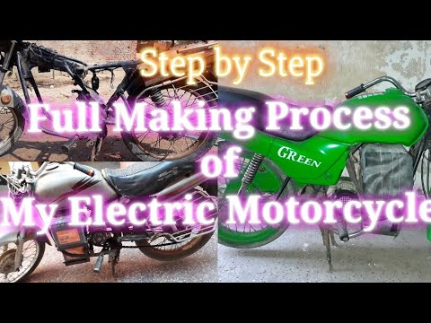 Electric Motorcycle GREEN home made only 250$ making journey by Jaynesh Kumar (Desi Mech. Engineer)