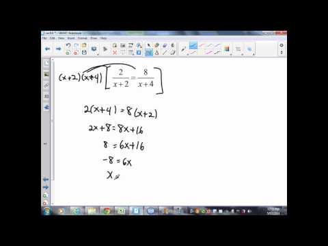 Alg 2 sec 9 6 Solving Rational Equations