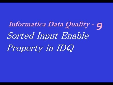 IDQ 9 : Sorted Input Enable Property in Informatica Data Quality (Aggregator Transformation)