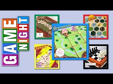 Family Game Night Desserts - Edible Chess, Carcassonne, Operation, Catan, Jumanji,