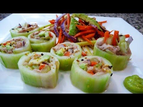 Cucumber Tuna Rolls, easy, healthy recipes