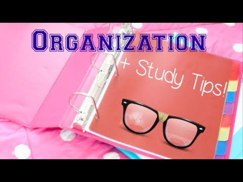 Organization + Study Tips for High School!