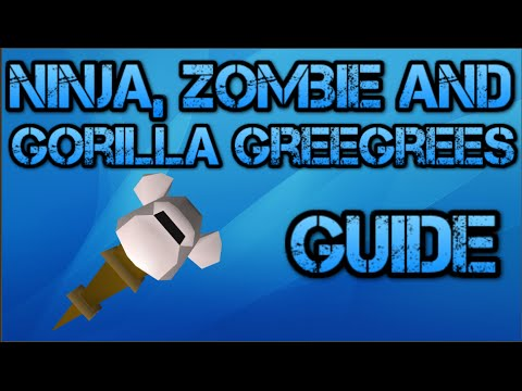 How To Make Ninja, Zombie and Gorilla Greegrees (Old School RuneScape Guide)
