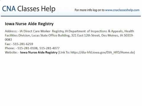 Iowa Nurse Aide Registry