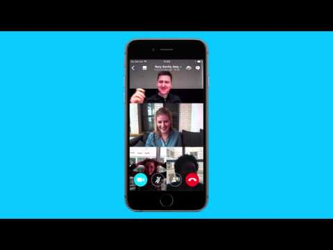 How to make a group video call on Skype for iPhone