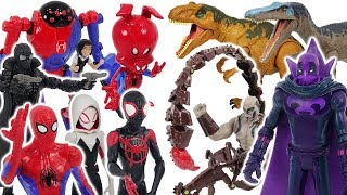 Download Spider-Man Into The Spider-Verse Miles Morales, Gwen VS Prowler, Scorpion, dinosaur! #DuDuPopTOY Video
