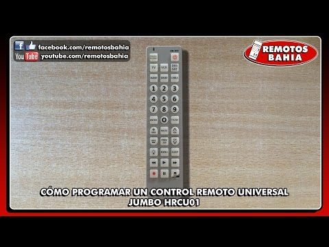 CÓMO PROGRAMAR CONFIGURAR UN CONTROL REMOTO UNIVERSAL CHUNGHOP RM-A1E JUMBO HRCU01