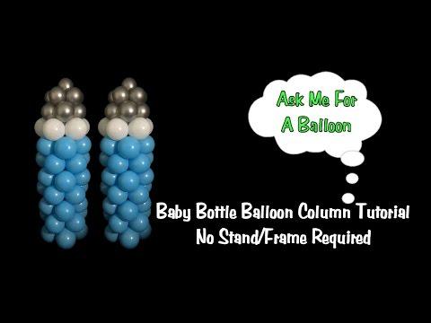 Baby Bottle Balloon Column No Stand Tutorial