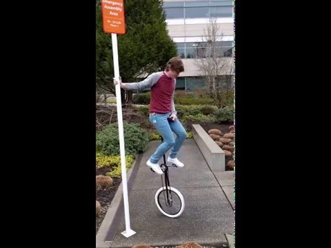 My First Time Riding a Giraffe Unicycle