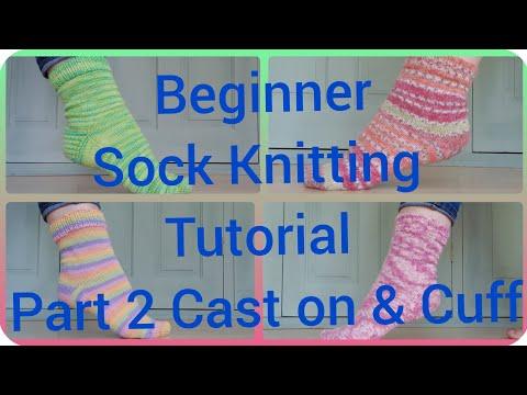 Sock knitting tutorial on 9