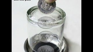 How to Push the Coin Trough The Glass - Magic Tricks Revealed