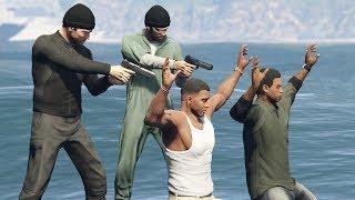 GTA 5 - Michael and Trevor Kill Franklin and Lamar! (Alternate Ending)