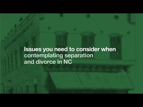 Separation and Divorce in NC - Charlotte Attorney Bill Whittaker